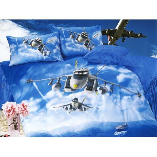 Детский полуторный комплект постельного белья KI-083