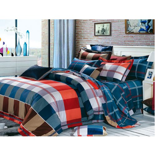 Полуторный комплект постельного белья В-12