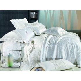 Двуспальный жаккардовый комплект постельного белья 3D-061
