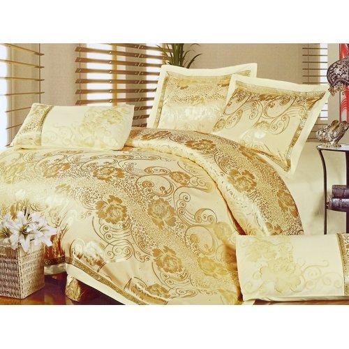 Двуспальный жаккардовый комплект постельного белья 3D-087