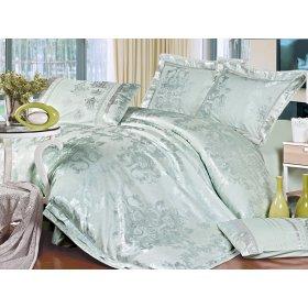 Двуспальный жаккардовый комплект постельного белья 3D-092