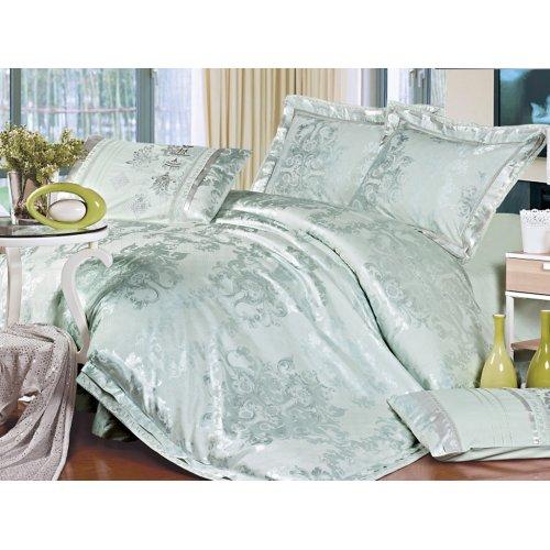 Семейный жаккардовый комплект постельного белья 3D-092