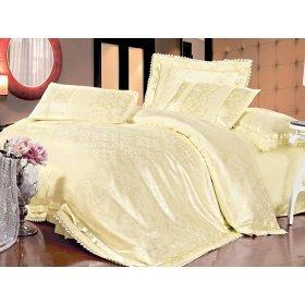 Полуторный жаккардовый комплект постельного белья Lux-01