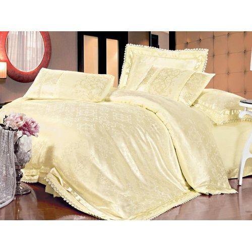 Двуспальный жаккардовый комплект постельного белья Lux-01