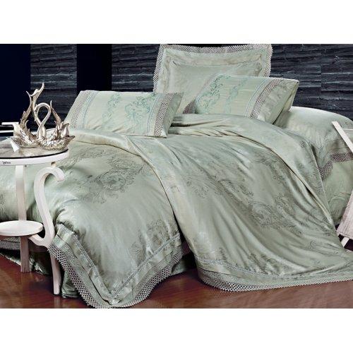 Полуторный жаккардовый комплект постельного белья Lux-05