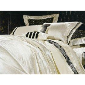 Двуспальный жаккардовый комплект постельного белья 3D-060