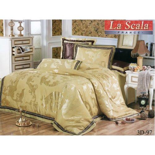 Семейный жаккардовый комплект постельного белья 3D-097