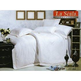 Полуторный жаккардовый комплект постельного белья JT-44