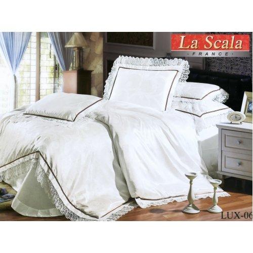 Двуспальный жаккардовый комплект постельного белья Lux-06