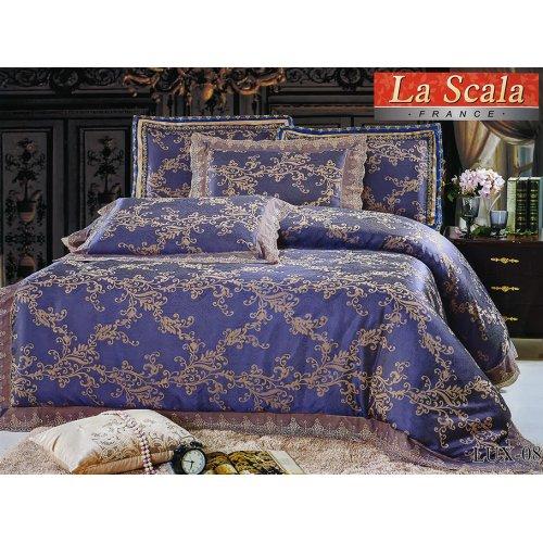 Двуспальный жаккардовый комплект постельного белья Lux-08 евро