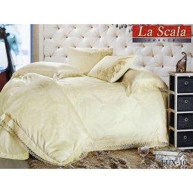 Семейный жаккардовый комплект постельного белья Lux-10