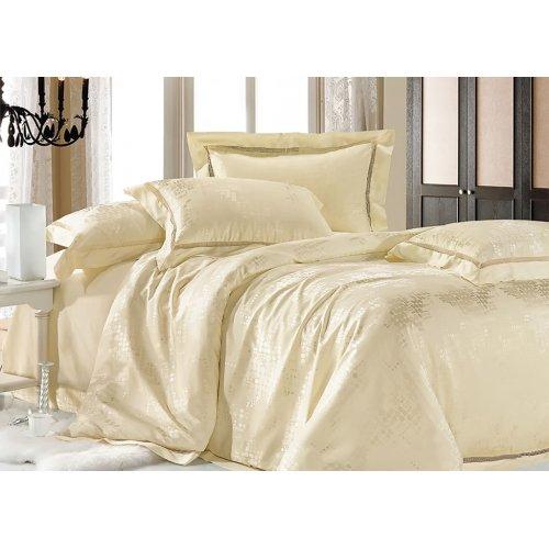 Двуспальный жаккардовый комплект постельного белья JT-24