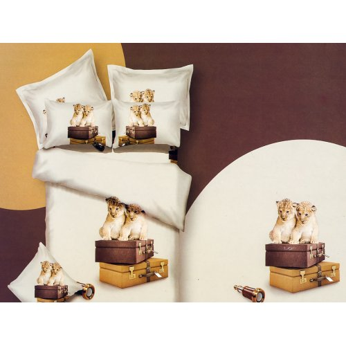 Комплект постельного белья АВС-298 двуспальный-евро