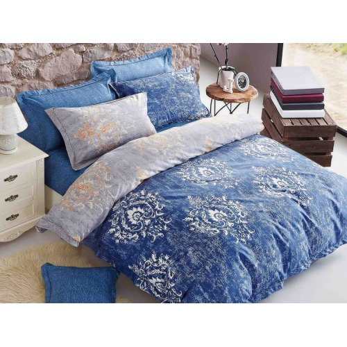 Двуспальный Евро комплект постельного белья PC-010