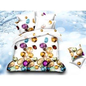 Двуспальный Евро комплект постельного белья PC-015