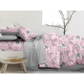 Двуспальный Евро комплект постельного белья PC-019