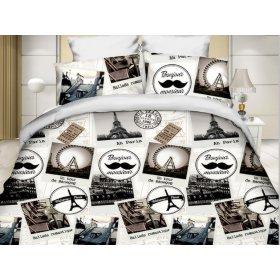 Двуспальный Евро комплект постельного белья PC-024