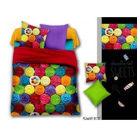 Двуспальный Евро комплект постельного белья PC-028