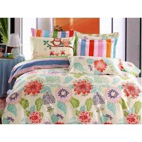 Двуспальный Евро комплект постельного белья PC-029