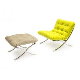 Комплект кресло+пуф LEONARDO ROMBO