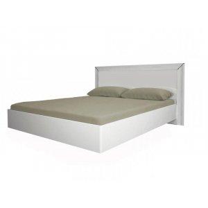 Кровать Белла белый глянец 160х200 подъемная с каркасом