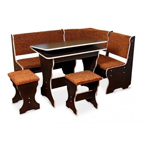 Комплект Цезарь (кухонный уголок+стол+2 табурета)