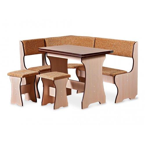 Комплект Эконом-2 (кухонный уголок+стол+2 табурета)
