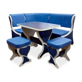 Комплект Глория+(кухонный уголок+стол+2 табурета)