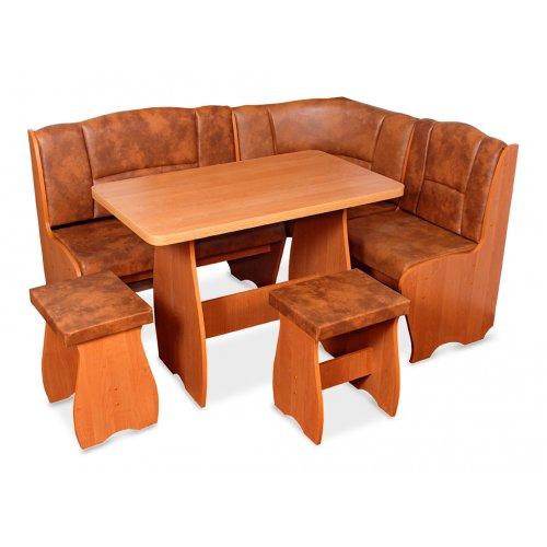 Комплект Честер (кухонный уголок+стол+2 табурета)