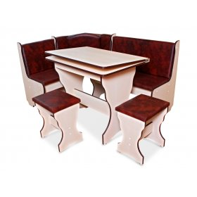 Комплект Октава (кухонный уголок+стол+2 табурета)