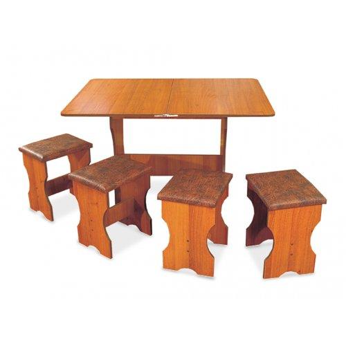Комплект Сити (кухонный стол и 4 табурета)