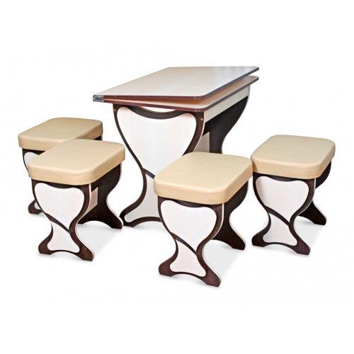 Комплект Мартини+ (кухонный стол и 4 табурета)