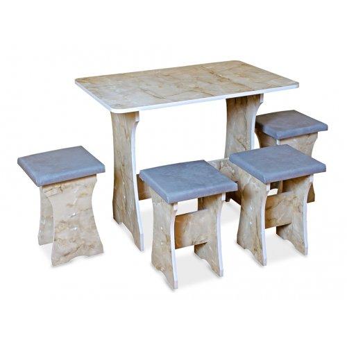 Комплект Корсар (кухонный стол и 4 табурета)