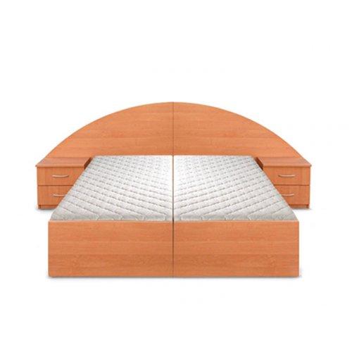 Кровать двуспальная Новик (под 2 матраса 190х70)