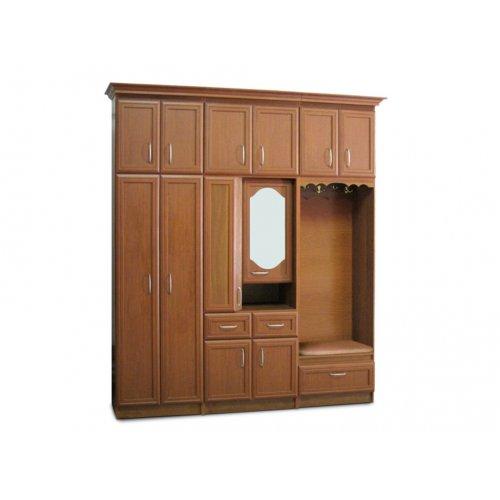 Шкаф с полками и зеркалом Саманта (секция 0,8 м)