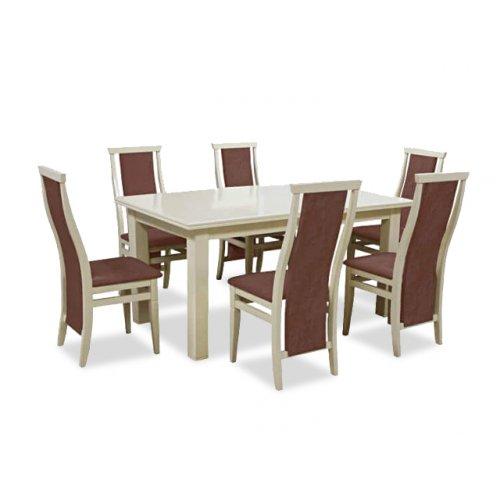 Комплект обеденный стол Классик слоновая кость + 6 стульев Марэк 5