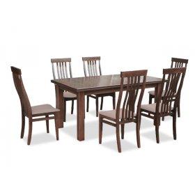 Комплект обеденный стол Классик орех светлый + 6 стульев Версаль