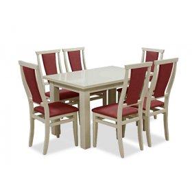 Комплект обеденный стол Классик слоновая кость + 6 стульев Марэк 1