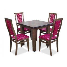 Комплект обеденный стол Классик темный орех + 4 стула Марэк 1