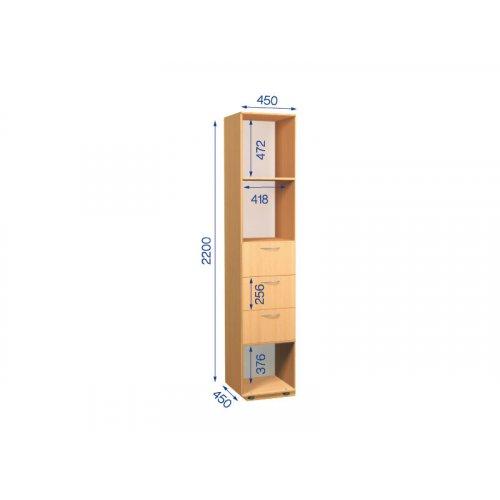 Пенал Стандарт ПН-6 45х45х220 см