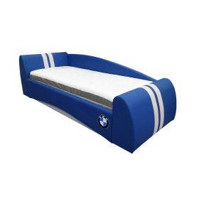 Кровать БМВ синяя 90х200