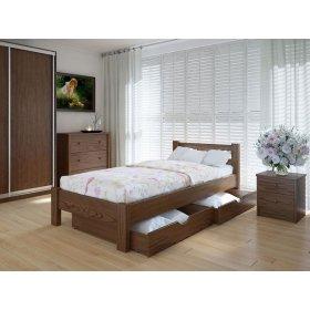 Кровать Эко с ящиками ольха