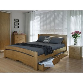 Кровать Грин плюс с ящиками дуб