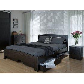 Кровать Грин 120х200 с ящиками ольха