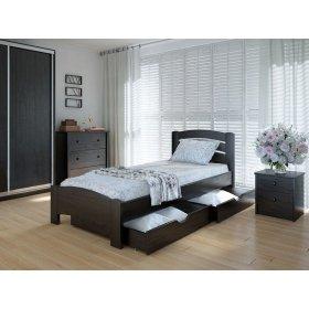 Кровать Грин с ящиками ольха