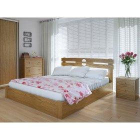 Кровать Кантри 120х200 с подъемным механизмом ясень