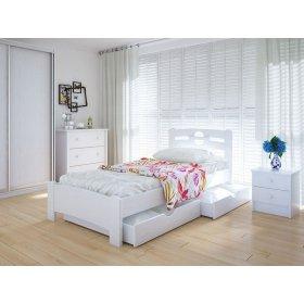 Кровать Кантри 90х200 с ящиками ольха