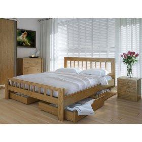 Кровать Луизиана с ящиками дуб