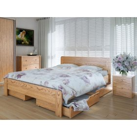 Кровать Марокко 160х200 с ящиками дуб
