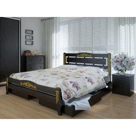 Кровать Осака люкс плюс с ящиками дуб